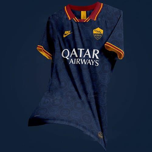 hermosa tercera camiseta as roma 2020