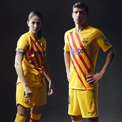la hermosa camiseta del FC Barcelona Senyera
