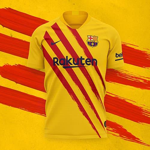 bella camiseta senyera del FC Barcelona