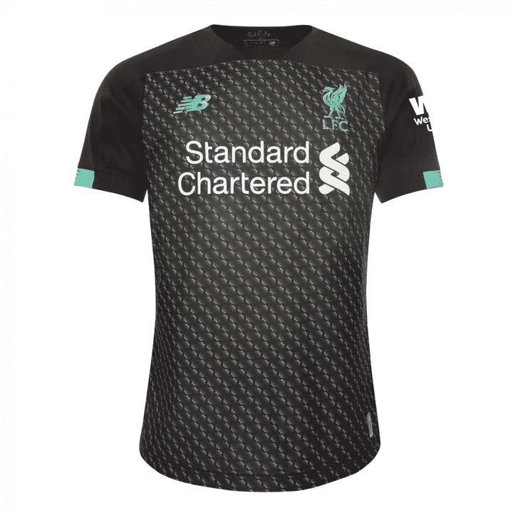 bella tercera camiseta del Liverpool FC
