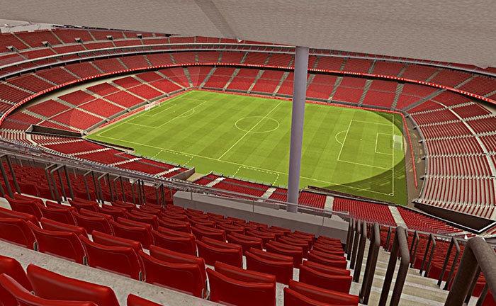 Amplitud de los graderíos en el Wanda Metropolitano