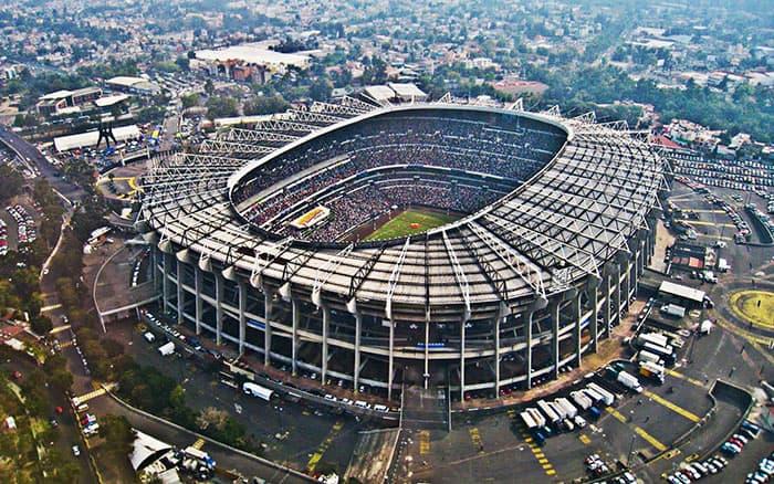 Estadio Azteca - México vista aerea