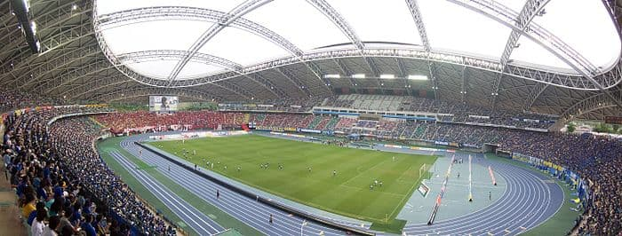 Estadio del Gran Ojo - Japón vista interior