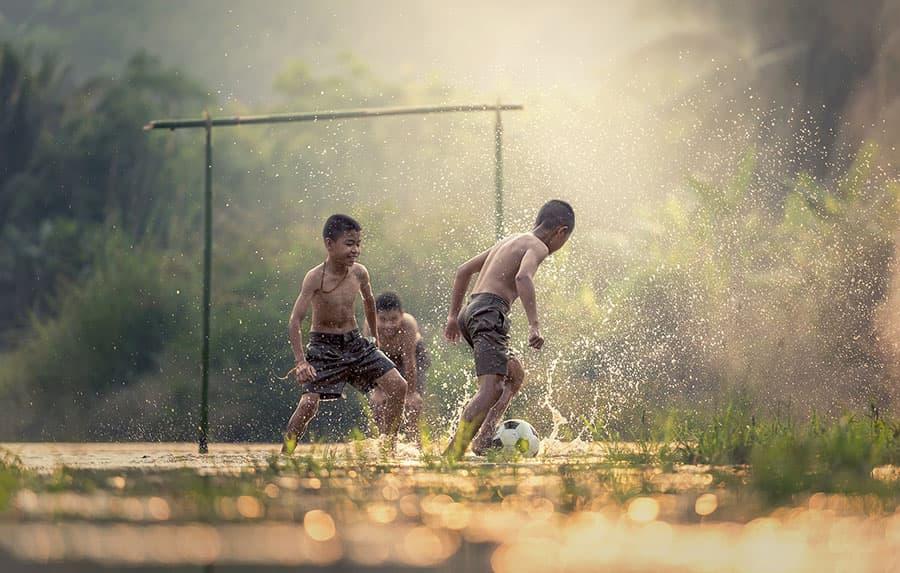 cancha de tierra futbol