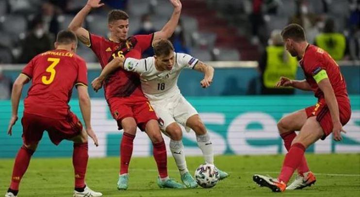 italia y belgica en eurocopa